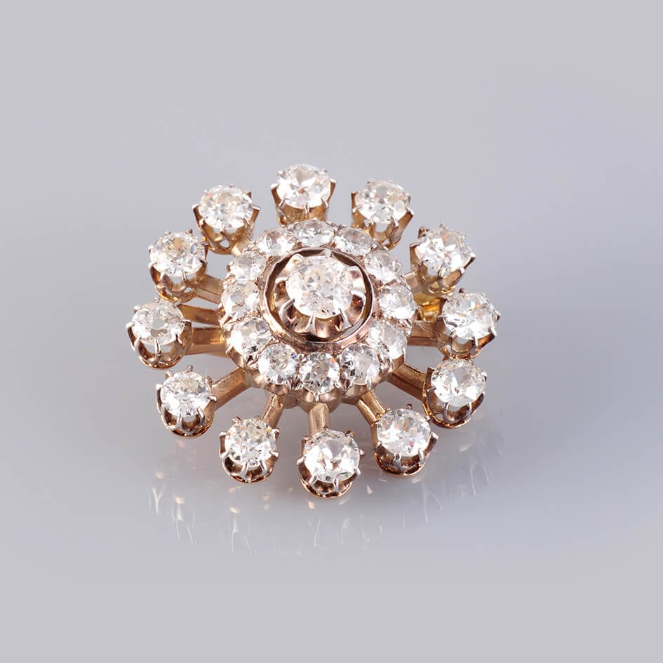 1950's Diamond & 18ct Gold Brooch