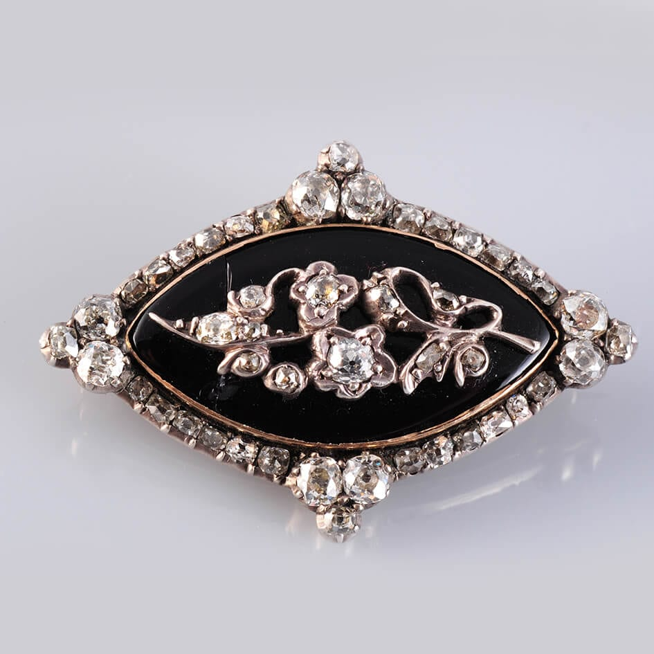 1850's Platinum & Diamond Brooch