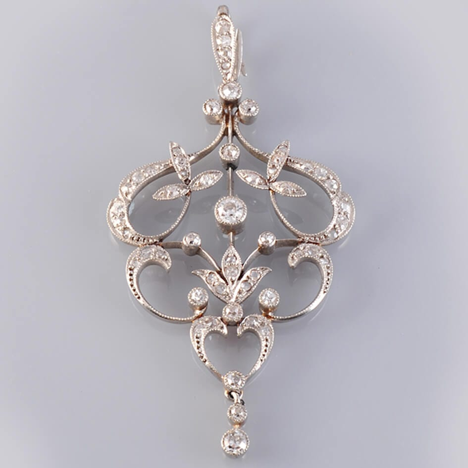 Diamond & Platinum Brooch
