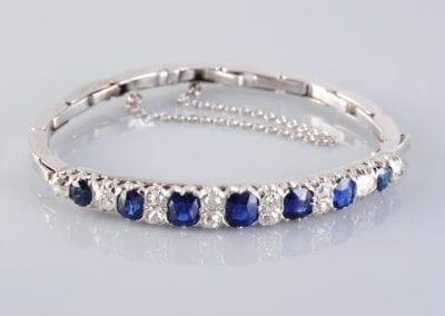 Late Victorian Sapphire and Diamond Bracelet, circa 1890. £3,000.