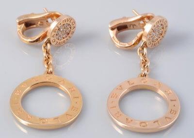 Bulgari - A Pair of 18 Carat Gold and Diamond Earrings. £2,600.