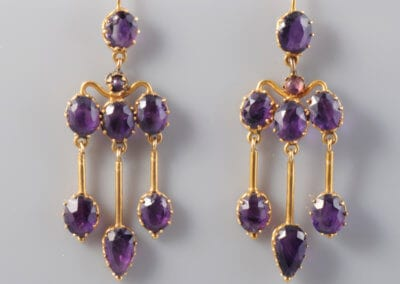 A Pair of Victorian Amethyst and Gold Earrings, Circa 1890. £1,200.