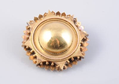 A Victorian Gold Brooch, circa 1890.  £140.