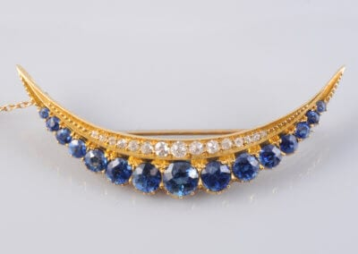 A Victorian Sapphire and Diamond Brooch, circa 1880. £6,000.