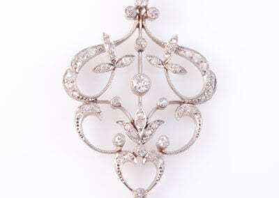 Edwardian Diamond Pendant c1900.  £1,400.