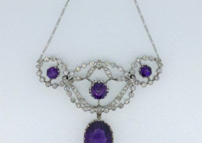 Amethyst & Diamond Necklace. £3,800