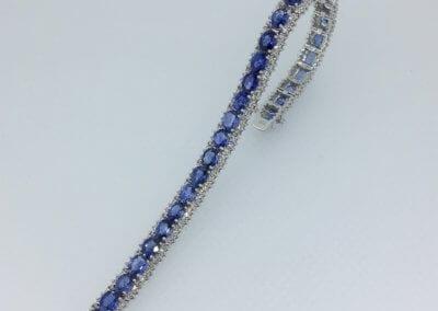 A Sapphire and Diamond Line Bracelet - POA