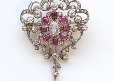 A Ruby and Diamond Pendant/Brooch circa 1890/1900 - £5,250