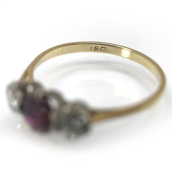 SRMA600-2 C A Ruby and Diamond Ring in 18 carat gold