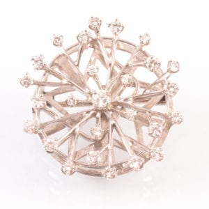 SRMA900128 A A Diamond and 18ct White Gold Starburst Brooch